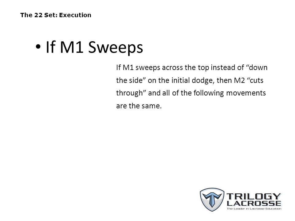 The 22 Set: Execution If M1 Sweeps.