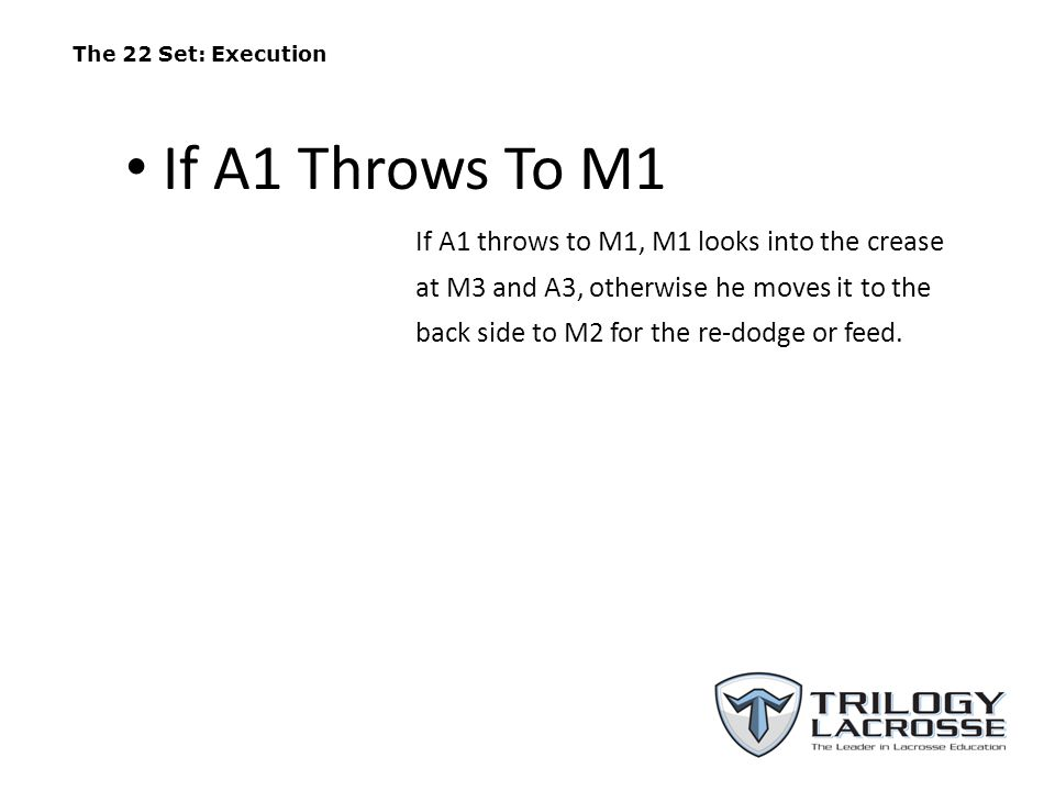 The 22 Set: Execution If A1 Throws To M1.