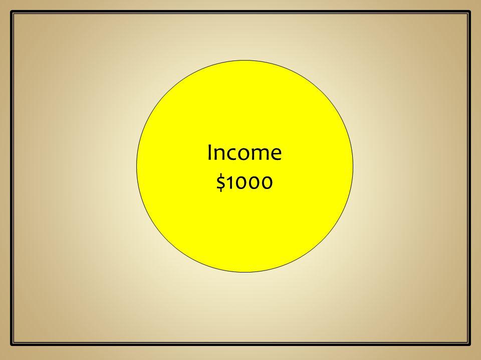 Income $1000