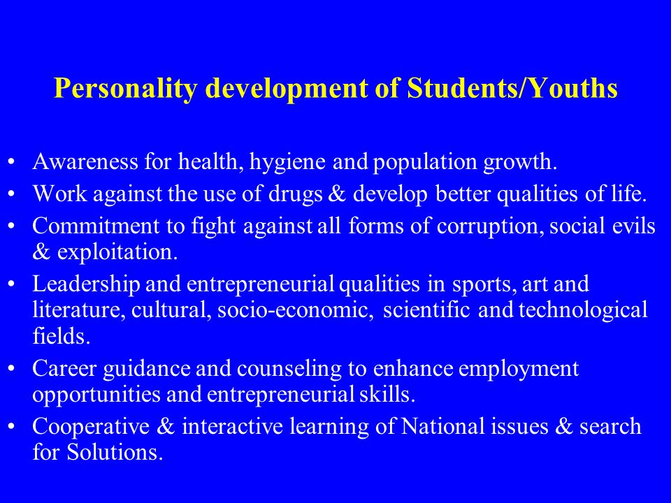 Personality development of Students/Youths