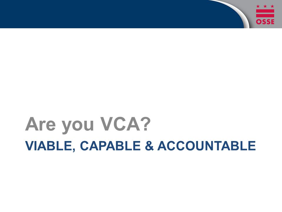 Viable, Capable & Accountable