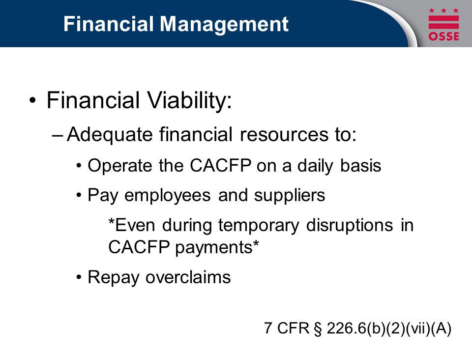 Financial Viability: Financial Management