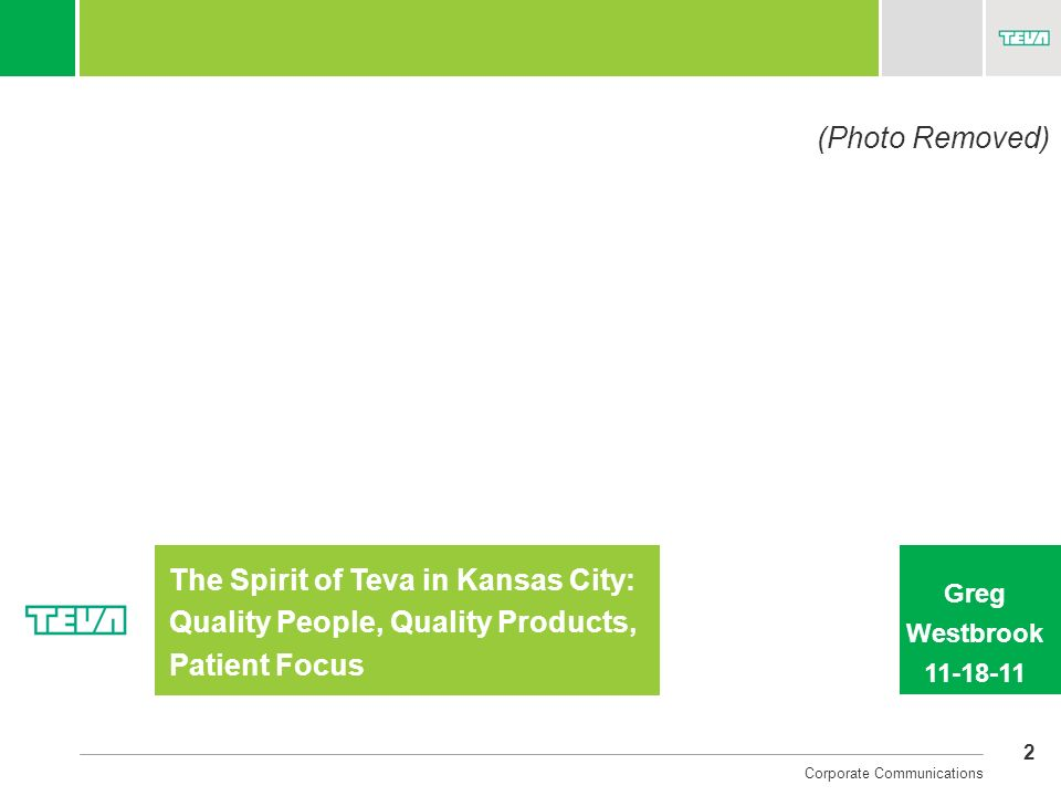 The Spirit of Teva in Kansas City: Quality People, Quality Products,
