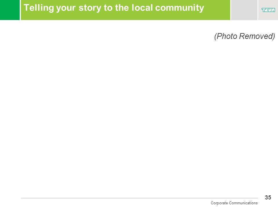 Telling your story to the local community