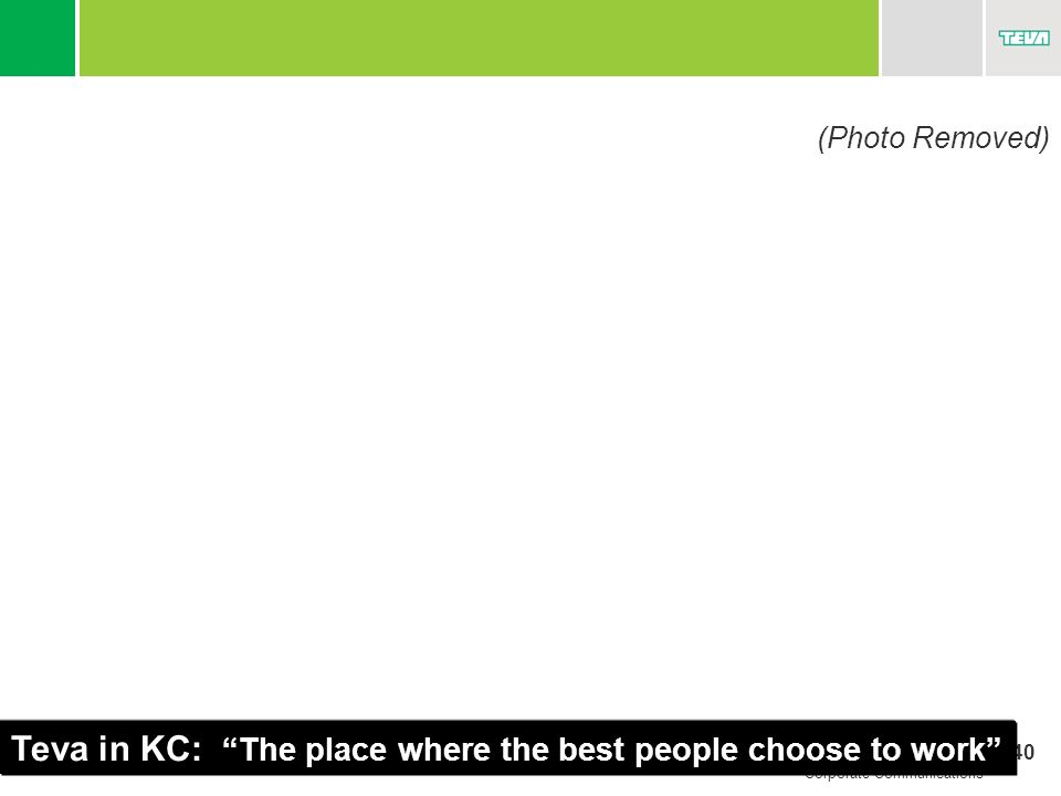 Teva in KC: The place where the best people choose to work