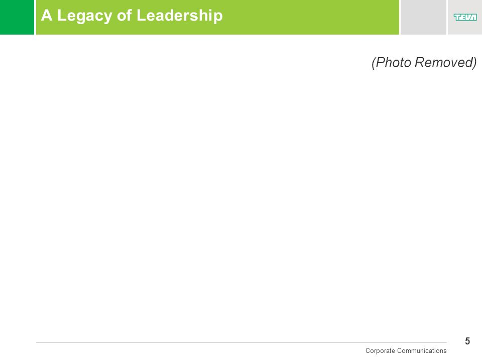 A Legacy of Leadership (Photo Removed)