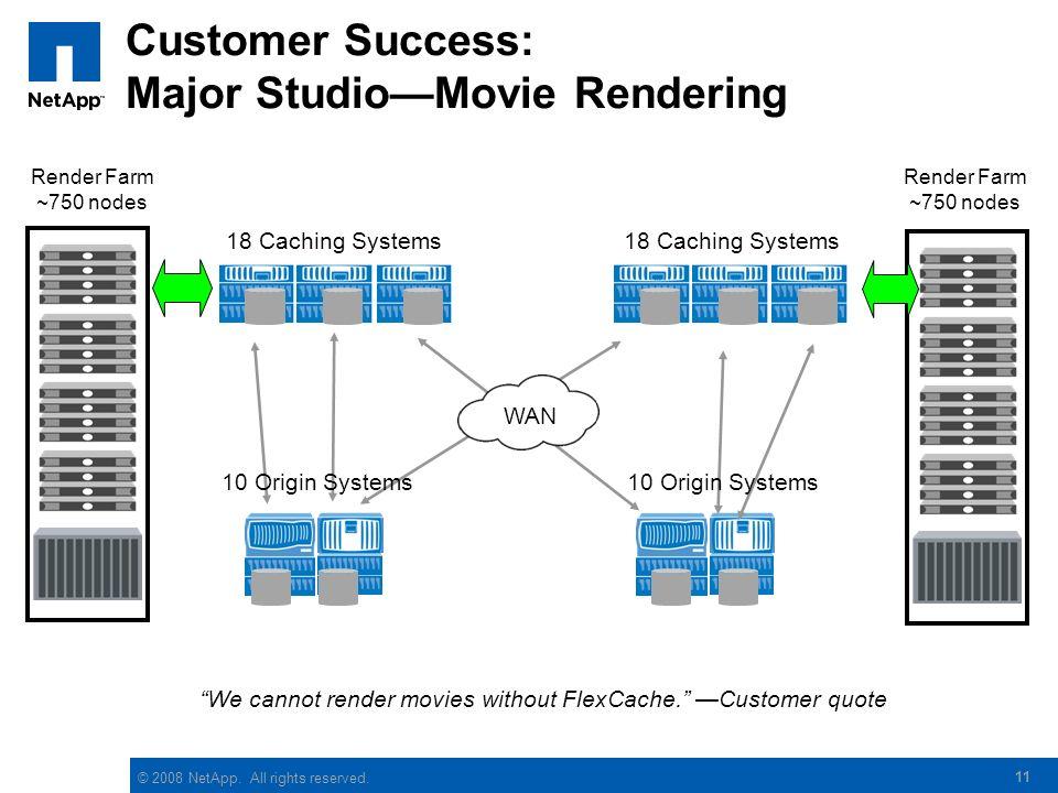 Customer Success: Major Studio—Movie Rendering