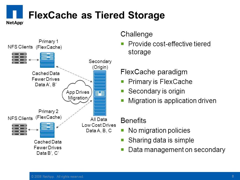 FlexCache as Tiered Storage