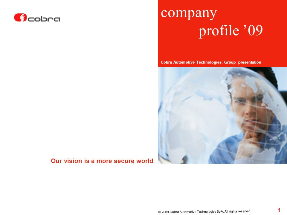 company profile '09 Our vision is a more secure world 1