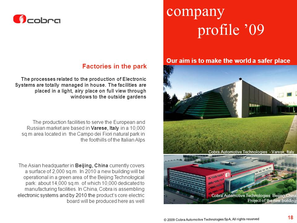 company profile '09 Factories in the park
