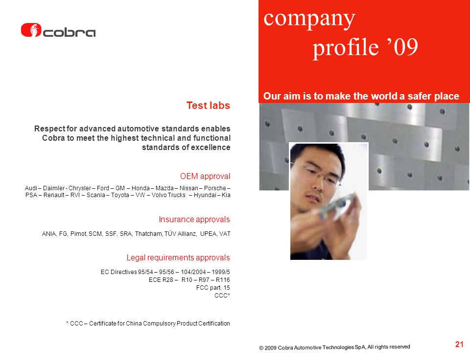 company profile '09 Test labs
