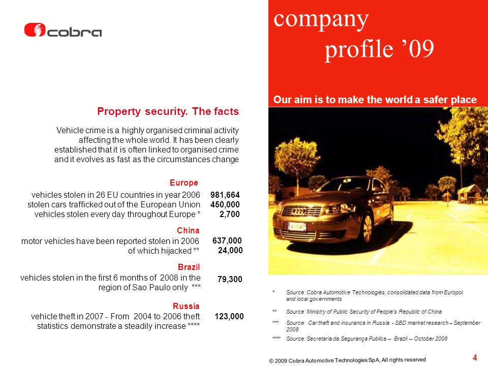 company profile '09 Property security. The facts
