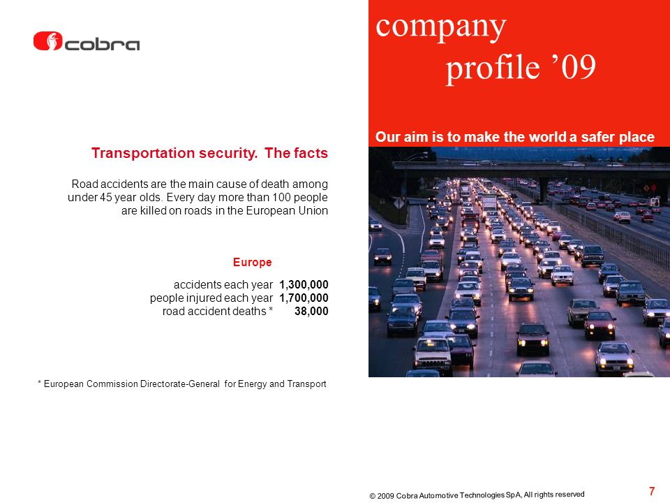company profile '09 Transportation security. The facts
