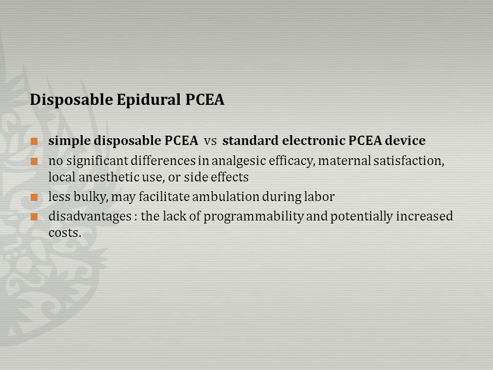 Disposable Epidural PCEA