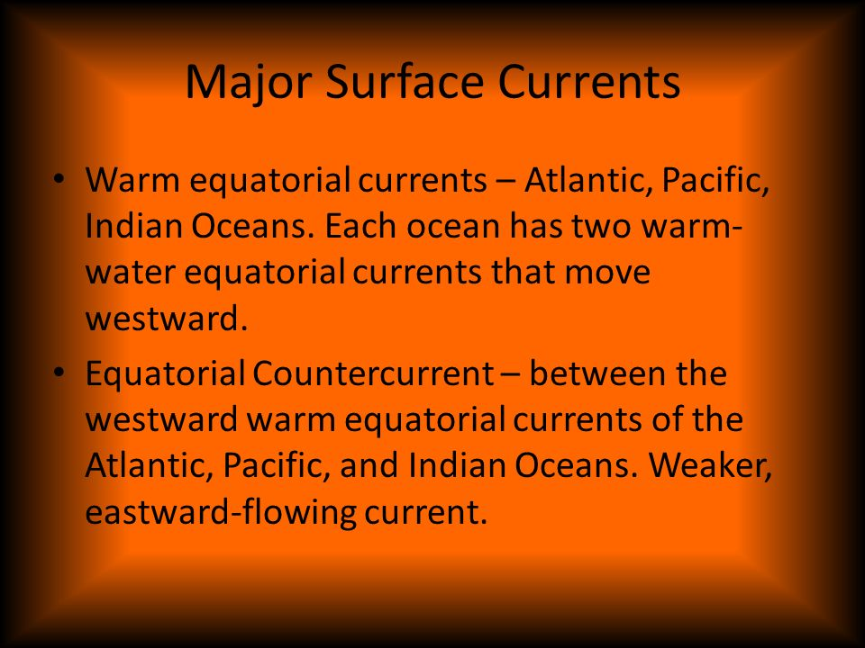 Major Surface Currents