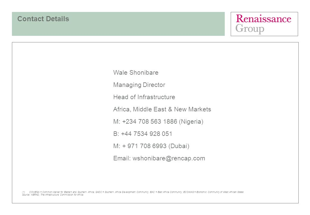 Contact Details Wale Shonibare Managing Director