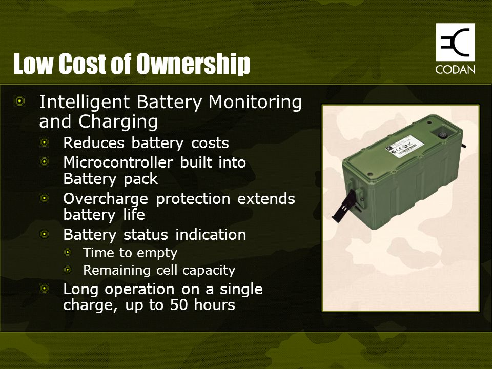 Low Cost of Ownership Intelligent Battery Monitoring and Charging