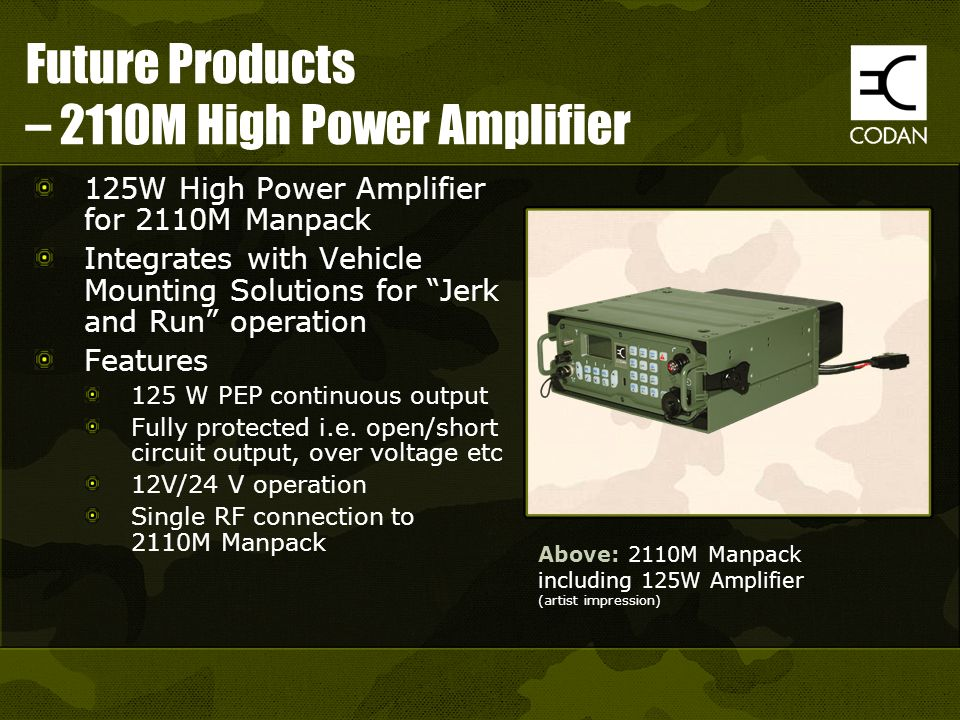 Future Products – 2110M High Power Amplifier