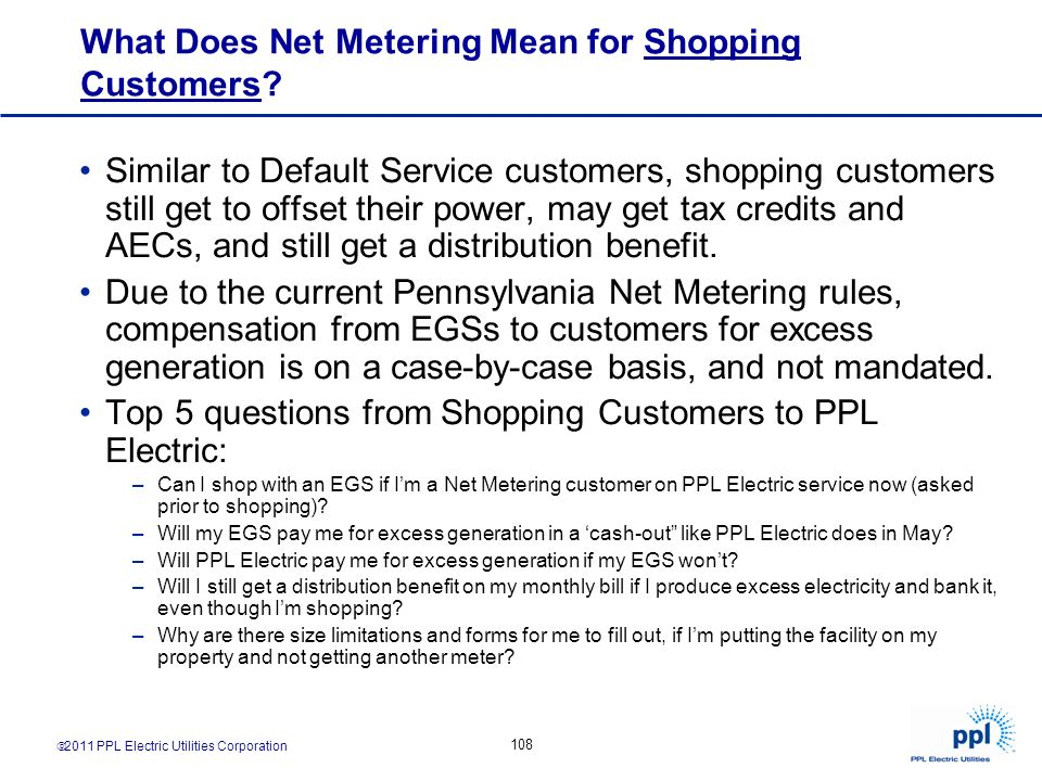 What Does Net Metering Mean for Shopping Customers