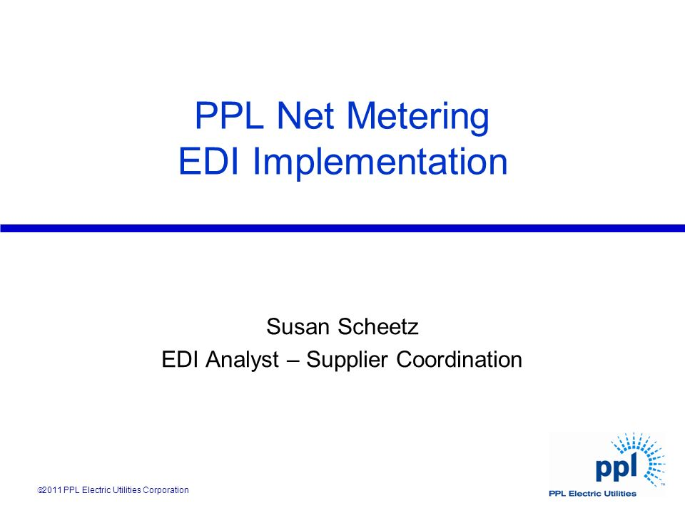 PPL Net Metering EDI Implementation