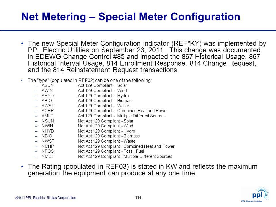 Net Metering – Special Meter Configuration