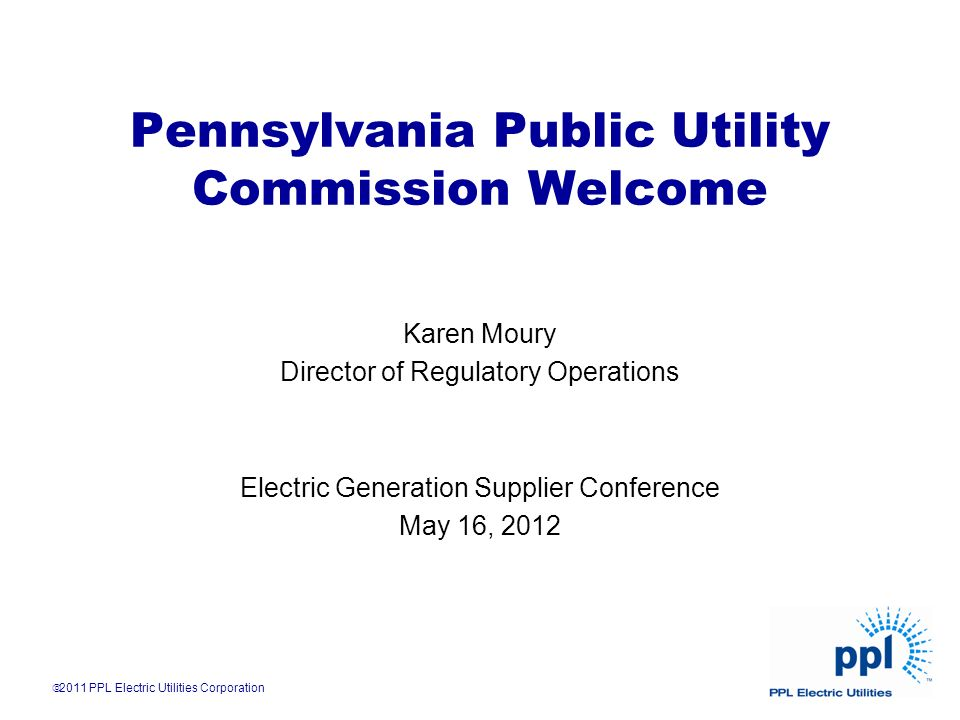 Pennsylvania Public Utility Commission Welcome