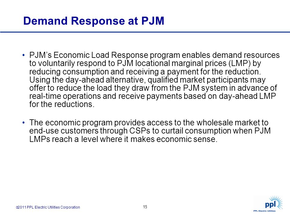 Demand Response at PJM