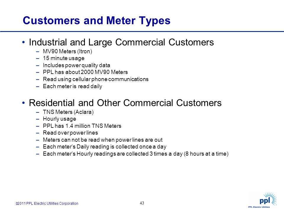 Customers and Meter Types