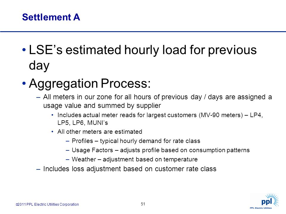 LSE's estimated hourly load for previous day Aggregation Process: