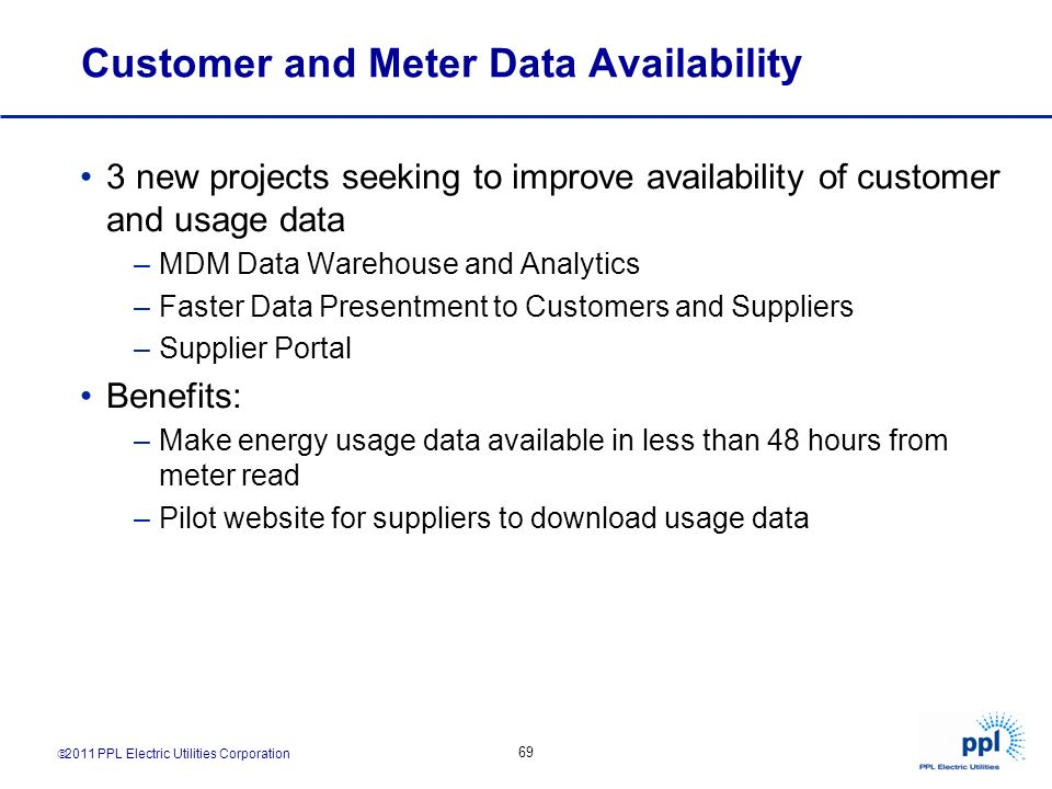 Customer and Meter Data Availability