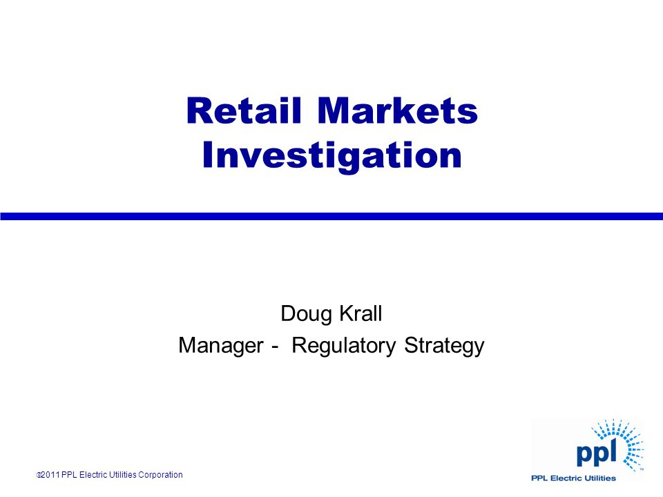 Retail Markets Investigation