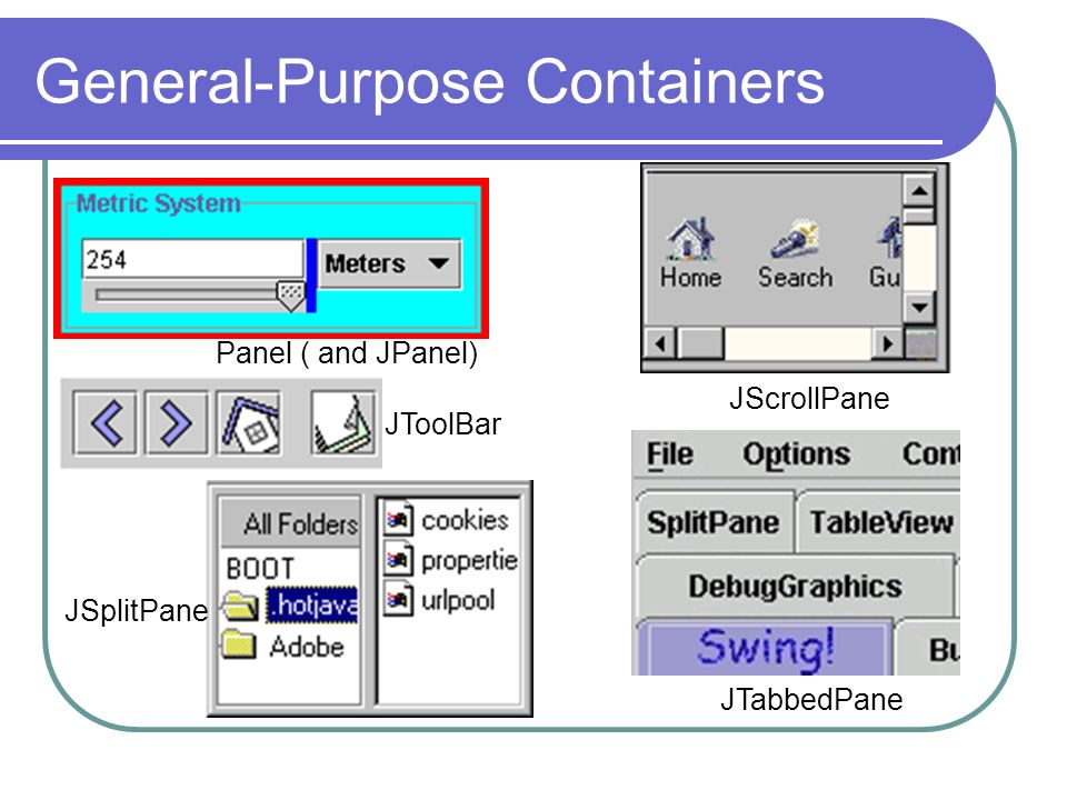 General-Purpose Containers