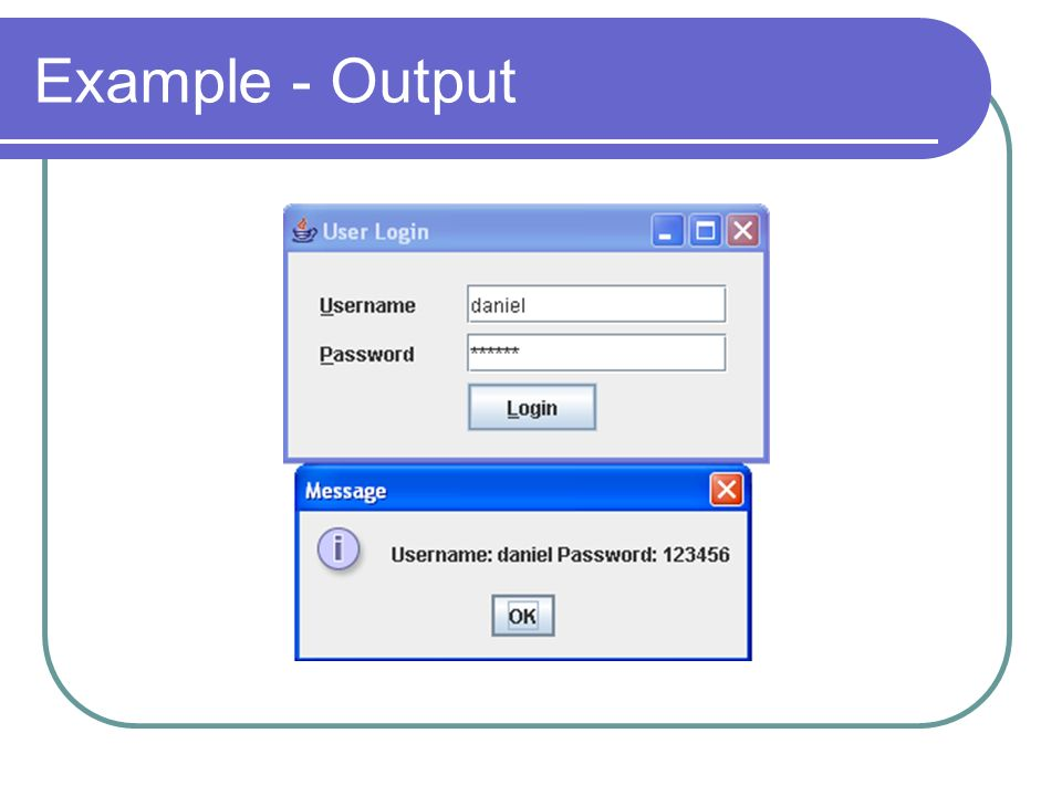 Example - Output