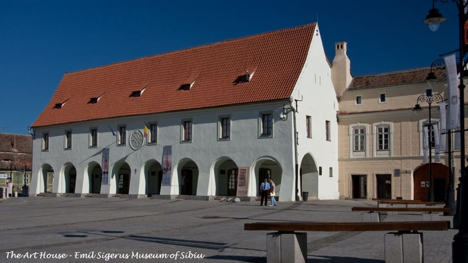 "The Art House - Emil Sigerus Museum of Sibiu is known as Butchers Hall and is one of the oldest ""guild houses Documentary certified in 1370, the historical monument located in the Small Square of Sibiu, is one of the most interesting building that embodies the type of a medieval trading hall"
