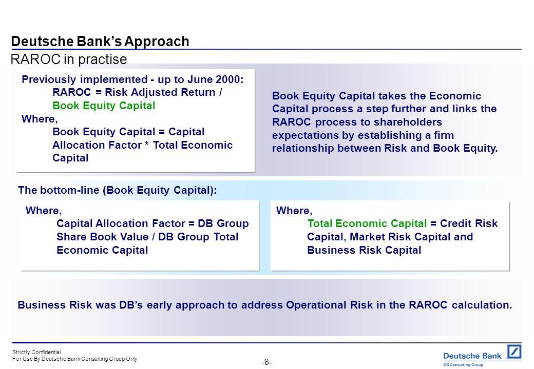 Deutsche Bank's Approach RAROC in practise