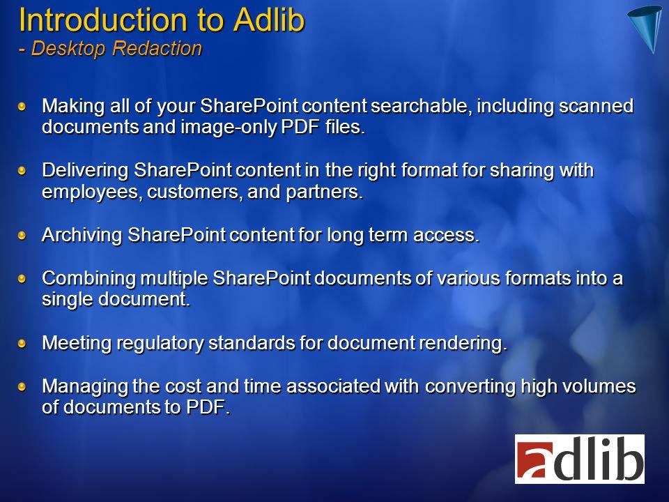 Introduction to Adlib - Desktop Redaction
