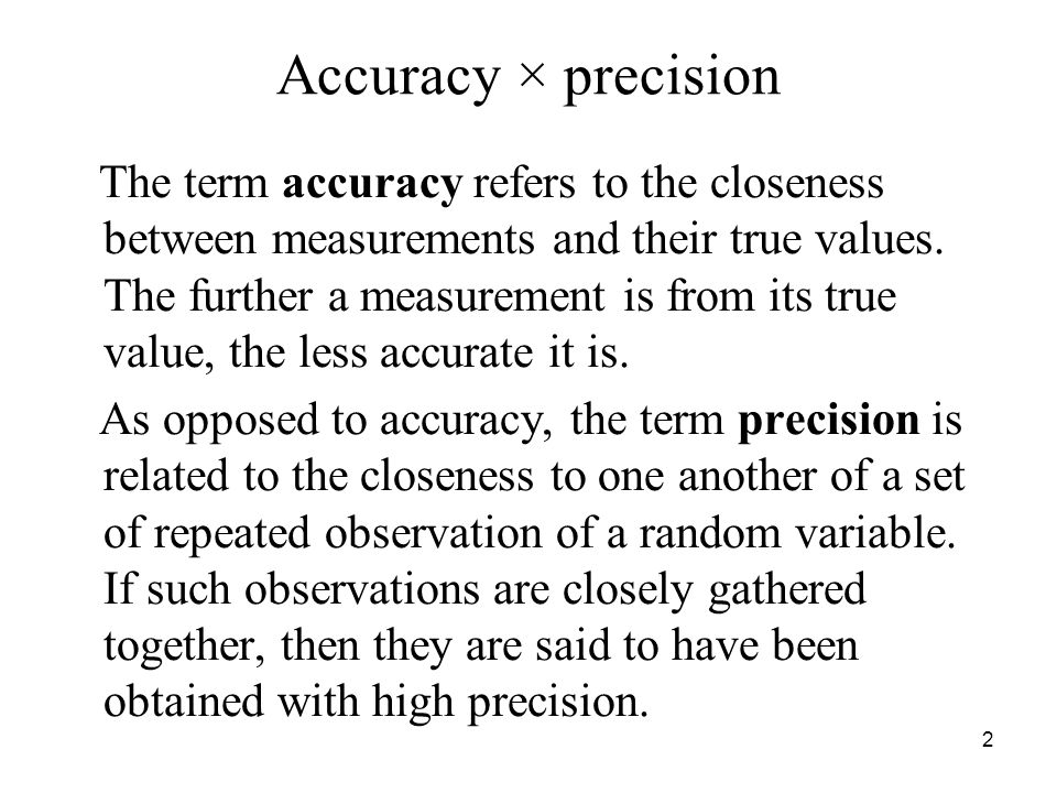Accuracy × precision