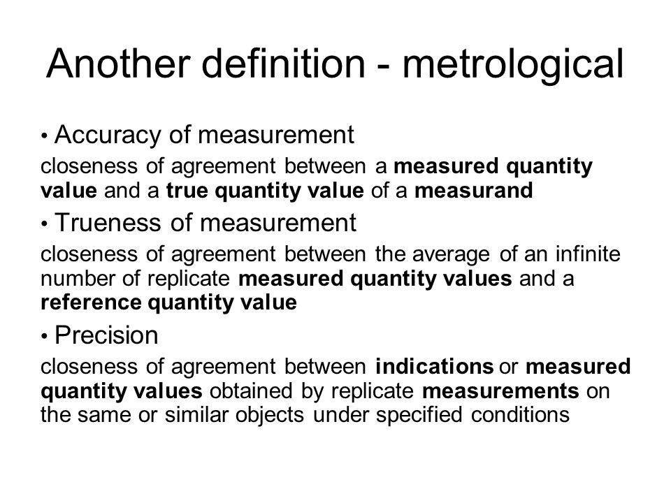 Another definition - metrological