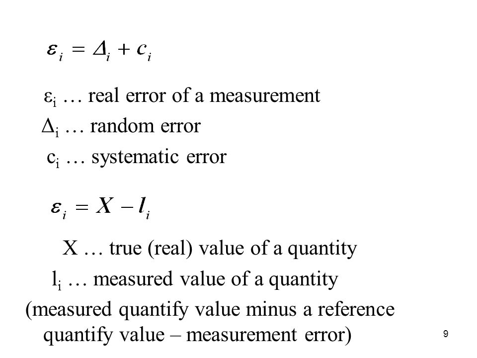 li … measured value of a quantity