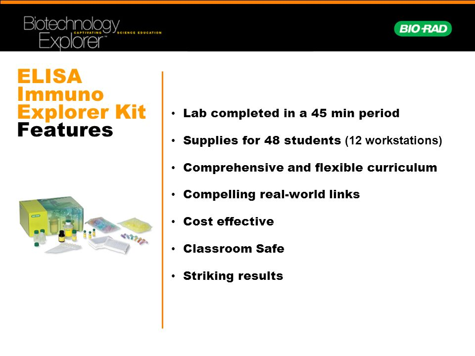 ELISA Immuno Explorer Kit Features