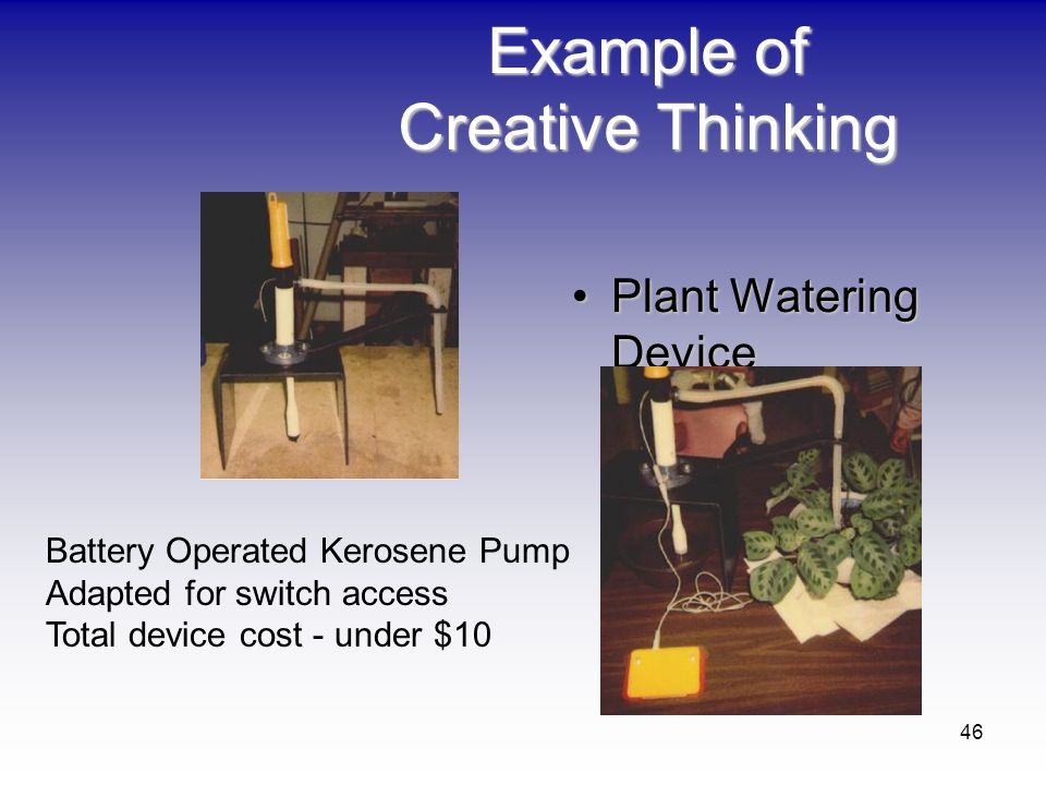 Example of Creative Thinking