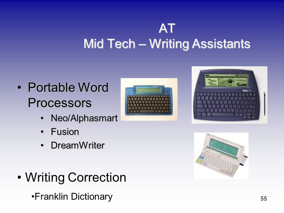 AT Mid Tech – Writing Assistants