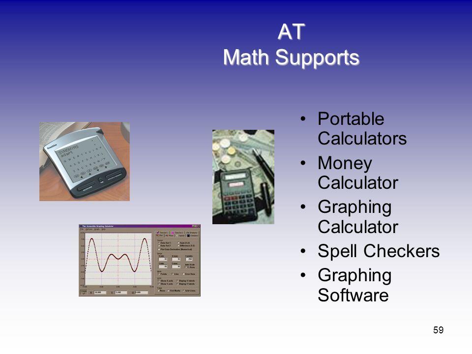 AT Math Supports Portable Calculators Money Calculator