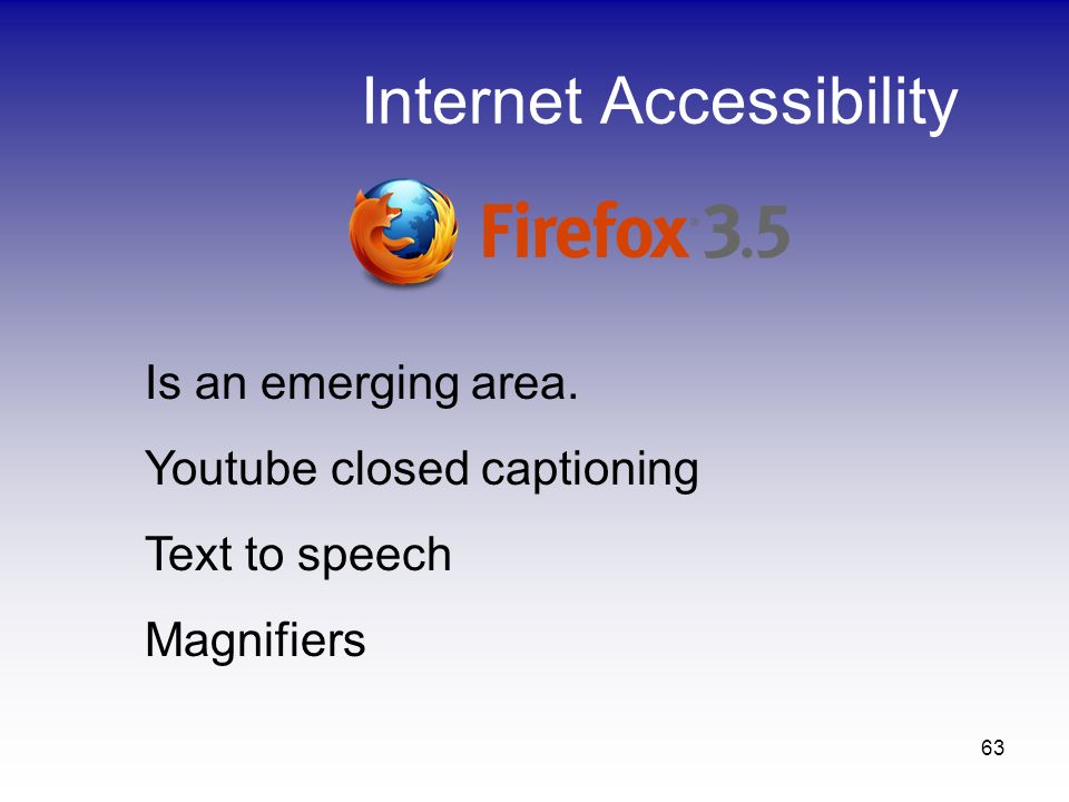 Internet Accessibility