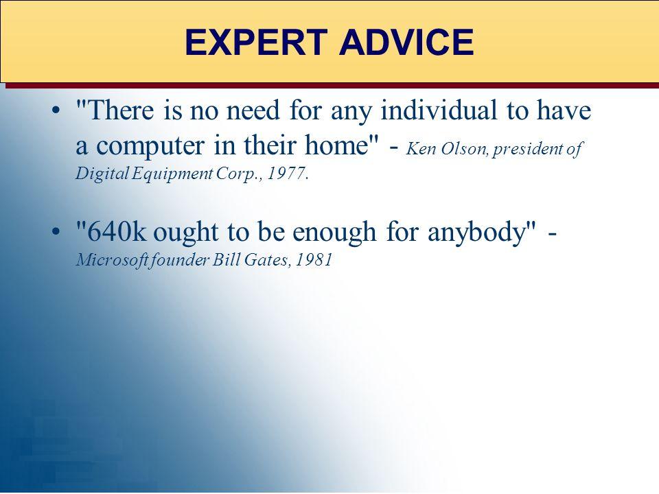 EXPERT ADVICE EXPERT ADVICE