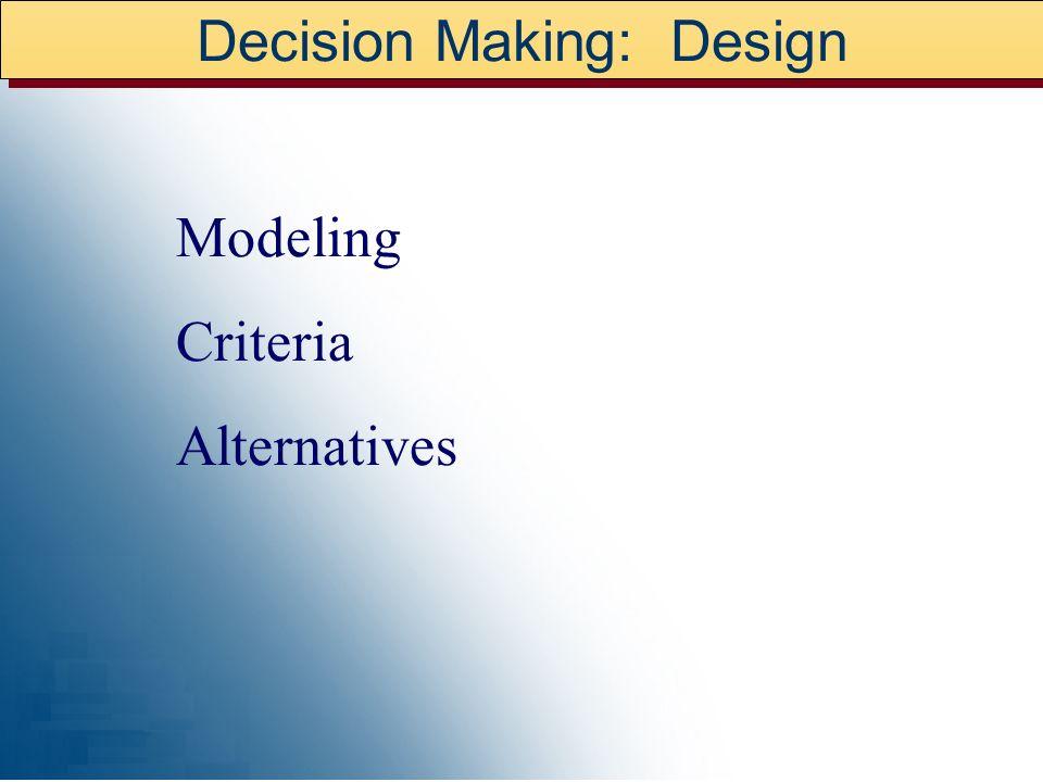 Decision Making: Design
