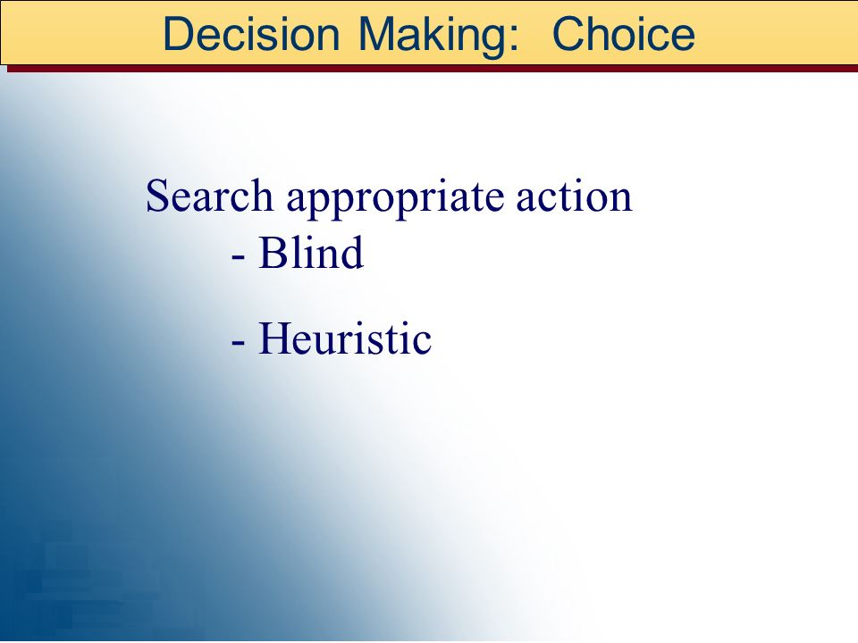Decision Making: Choice