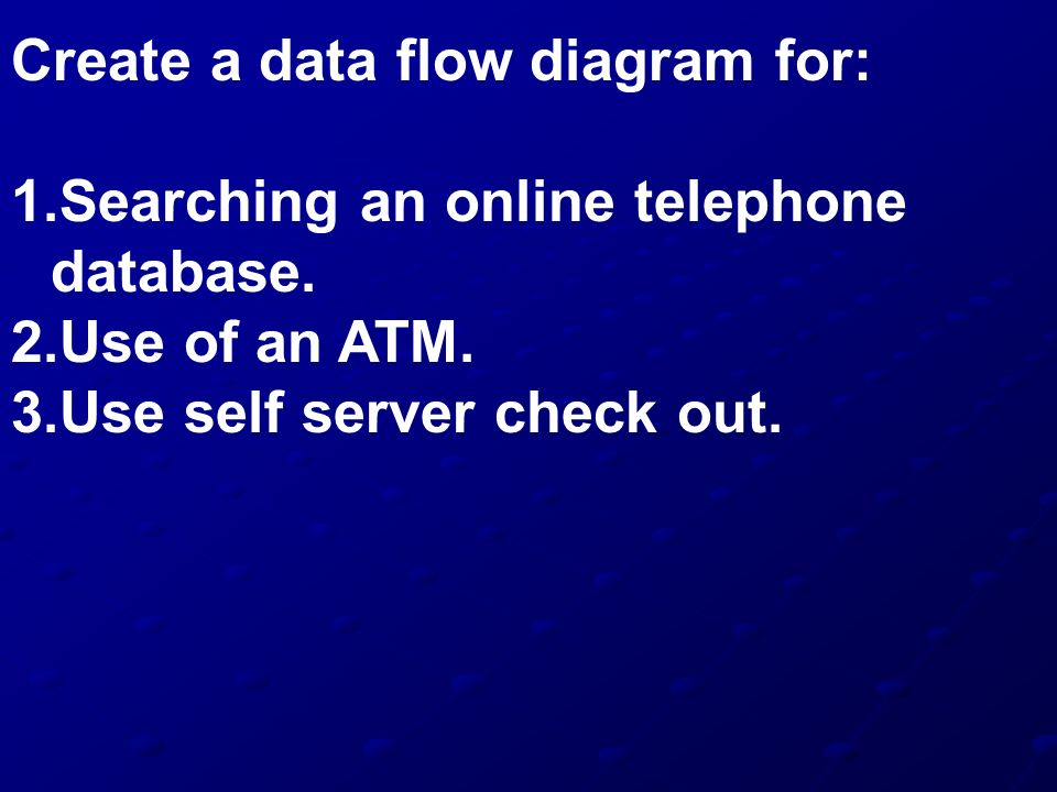 Create a data flow diagram for: