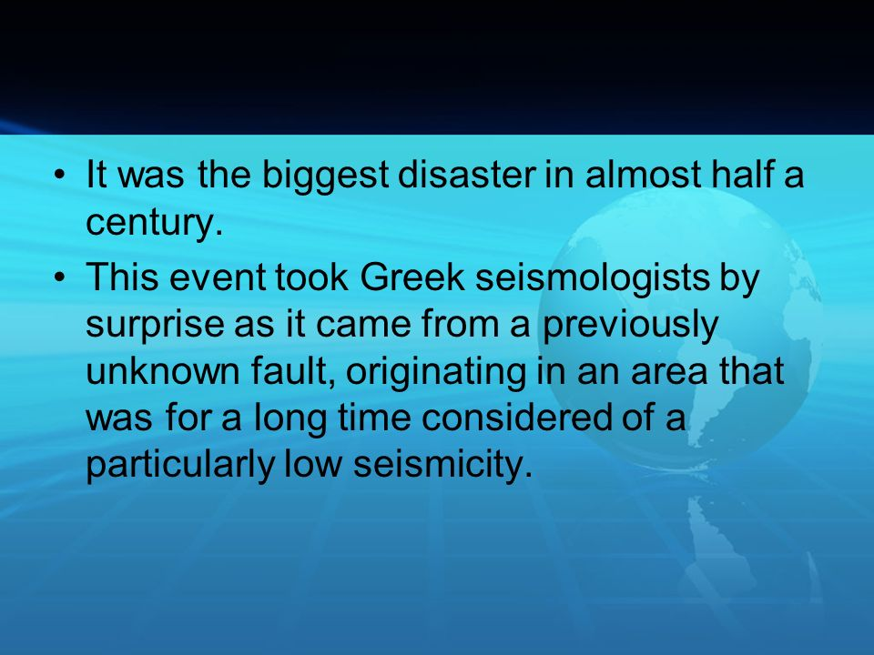 It was the biggest disaster in almost half a century.