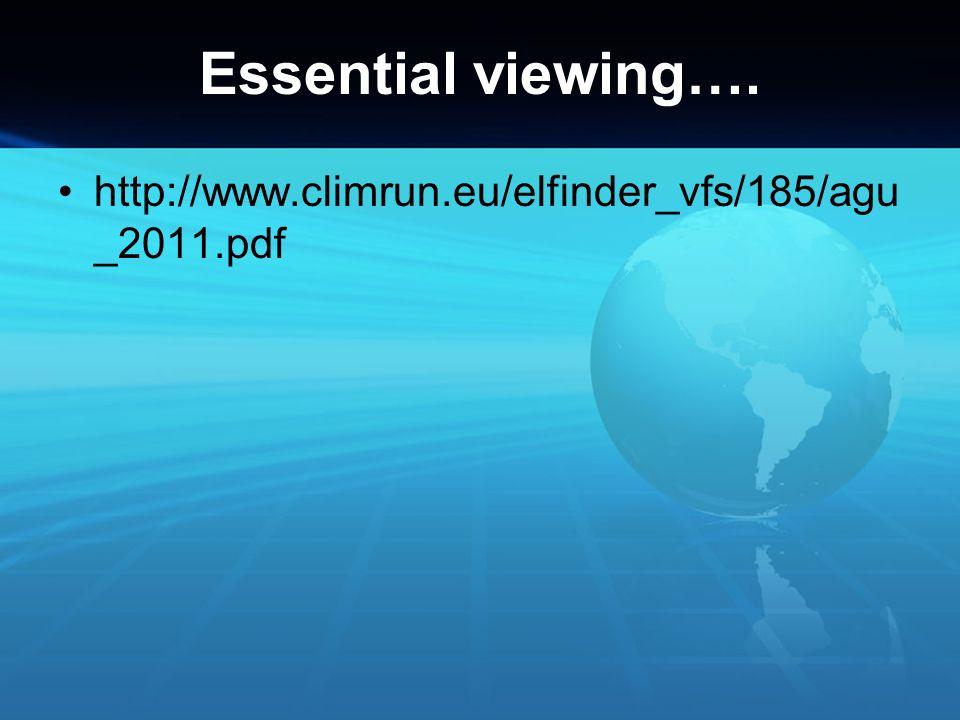 Essential viewing…. http://www.climrun.eu/elfinder_vfs/185/agu_2011.pdf